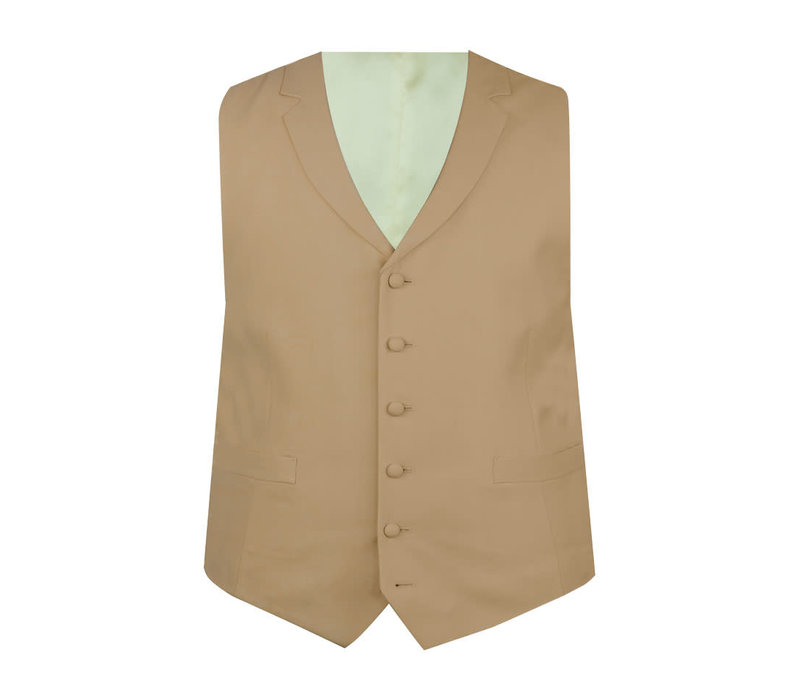 Ex-Rental Single Breasted Wool Waistcoats - Buff