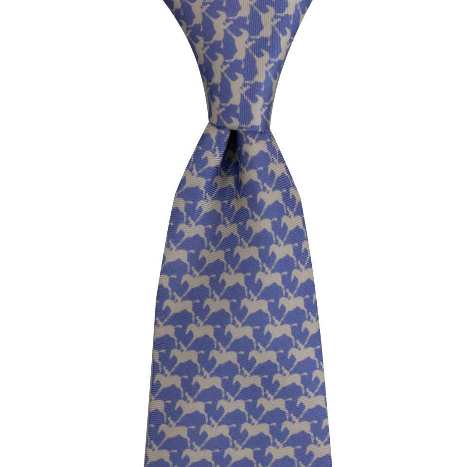 Royal Ascot Silk Tie - Parma and Pearl