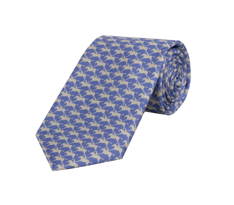 Royal Ascot Silk Tie - Parma and Pearl
