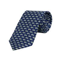 Royal Ascot Silk Tie - Smalt and Pearl