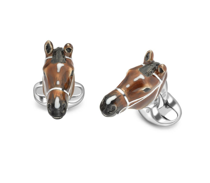 Horse Head Cufflink - Sterling Silver