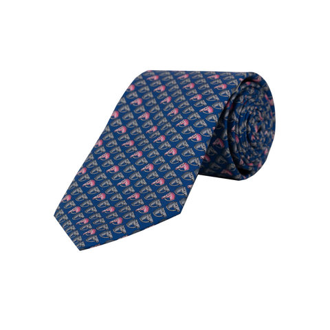 Royal Ascot Silk Tie, 2019 - Navy Horsehead