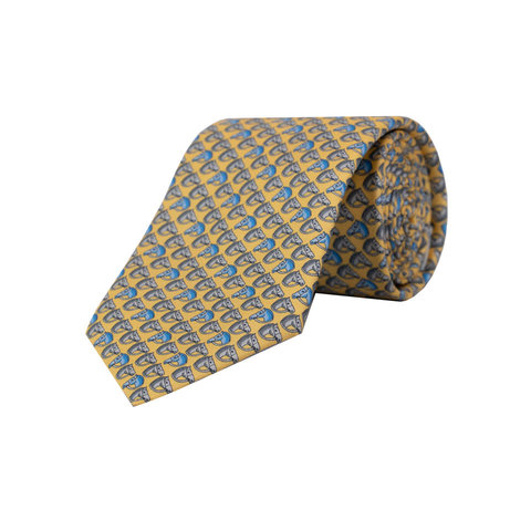 Royal Ascot Silk Tie, 2019 - Yellow Horsehead