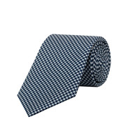 Silk Tie - Houndstooth Printed Navy