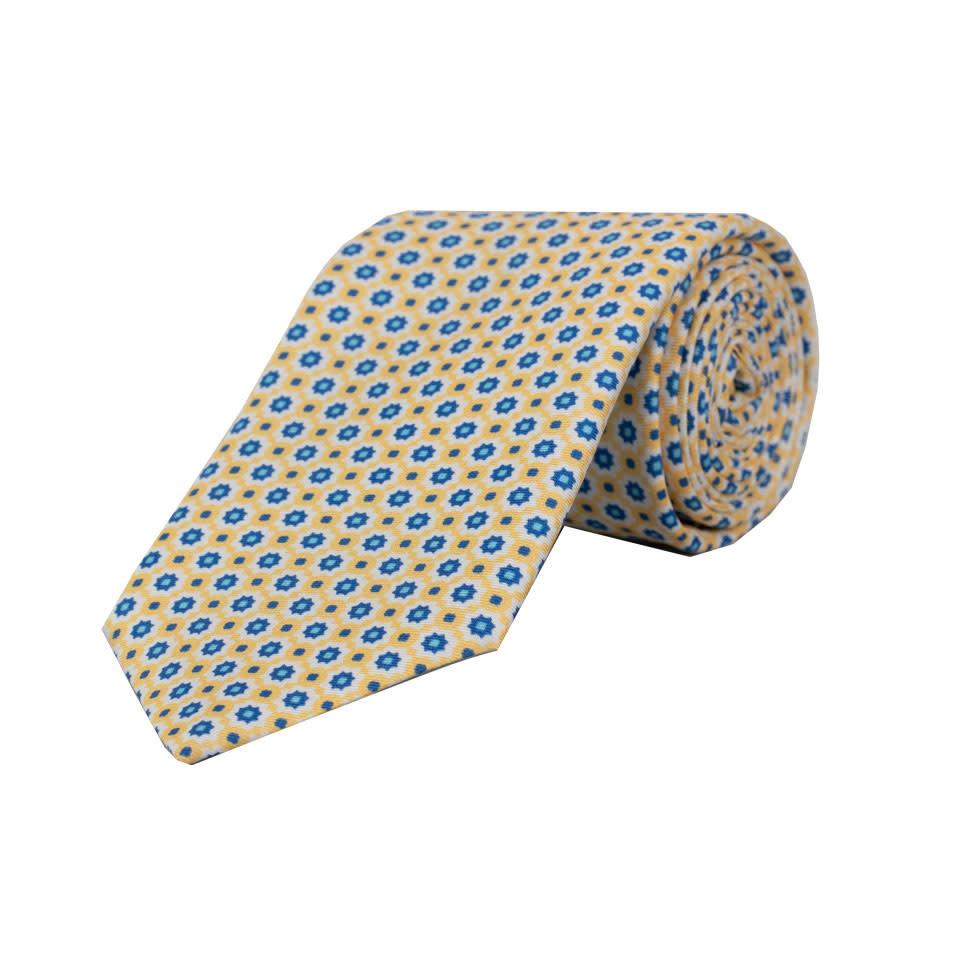 Silk Tie - Yellow Daisy