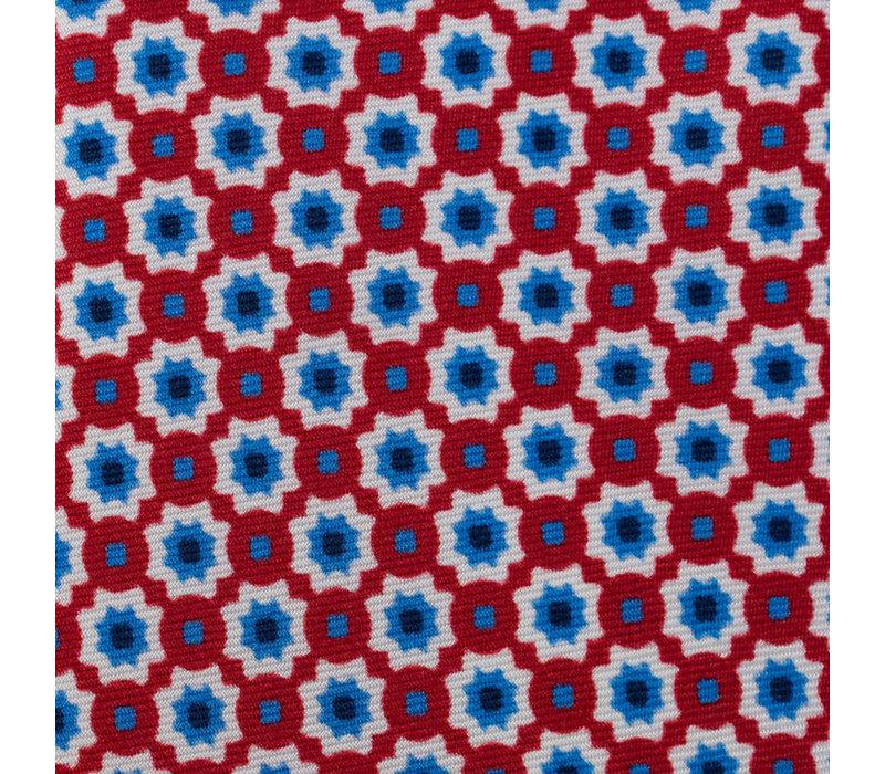 Silk Tie - Red Daisy