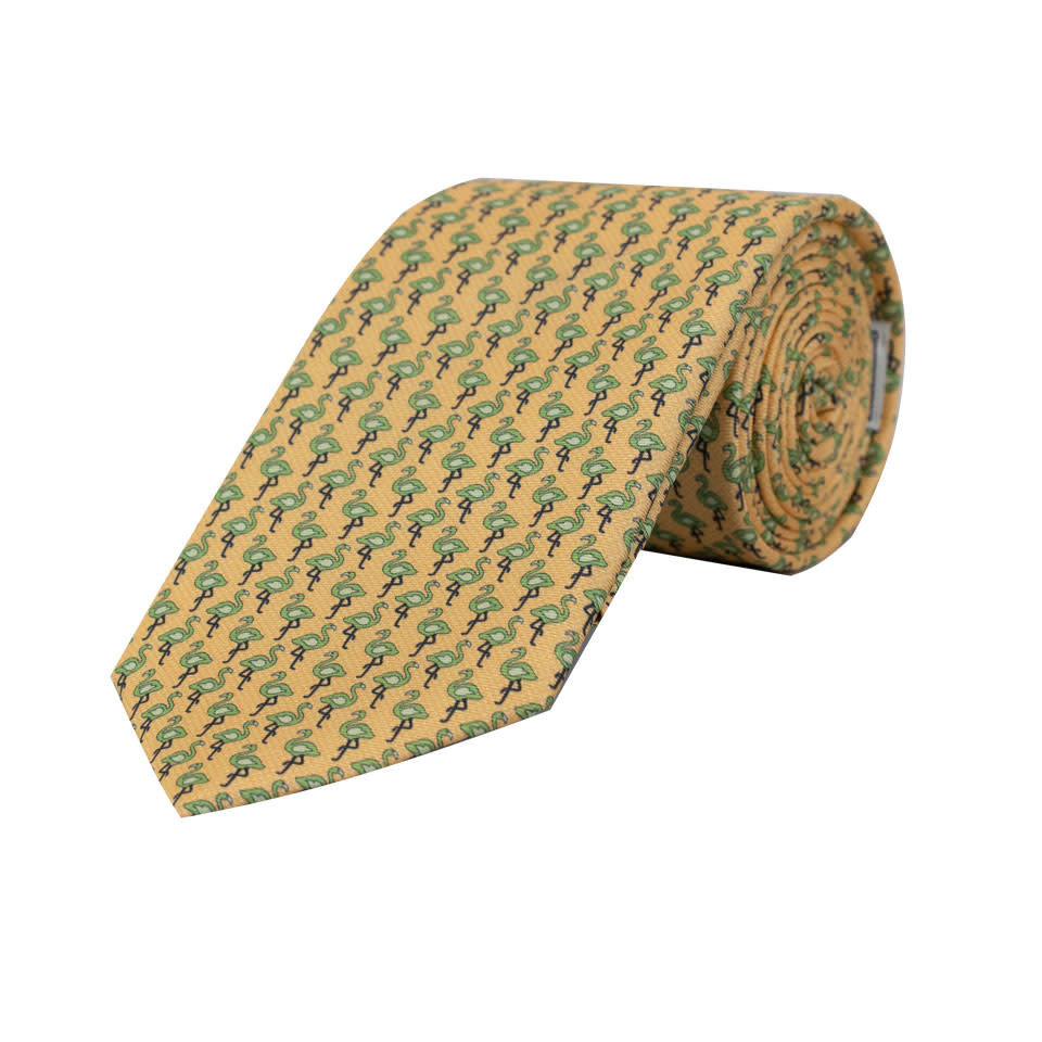 bdc3a30ca712 Silk Tie - Yellow Flamingo 2019 ...
