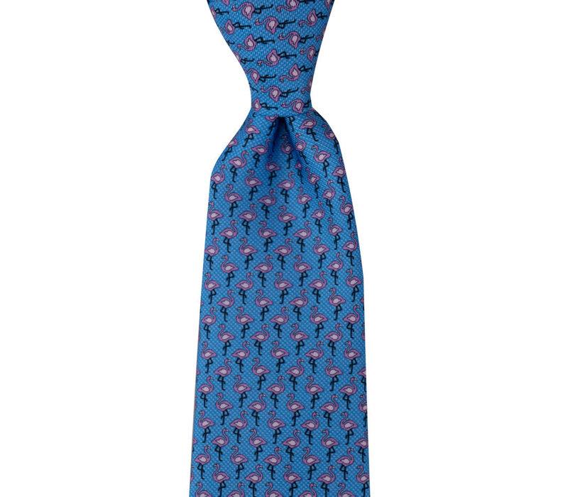 Silk Tie - Blue Flamingo 2019