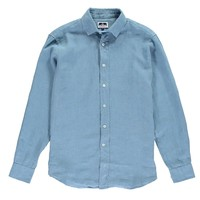 Love Brand and Co Classic Linen Shirt - French Blue