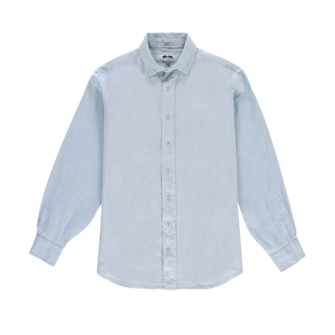 Love Brand & Co. Classic Linen Shirt - Sky Blue