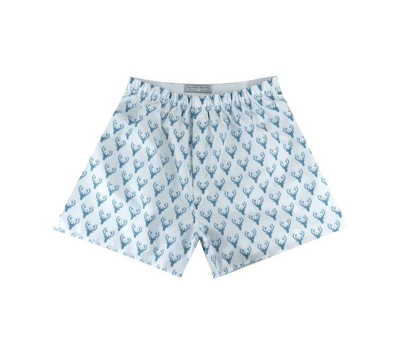 Cotton Boxer Shorts, Stag Silhouette