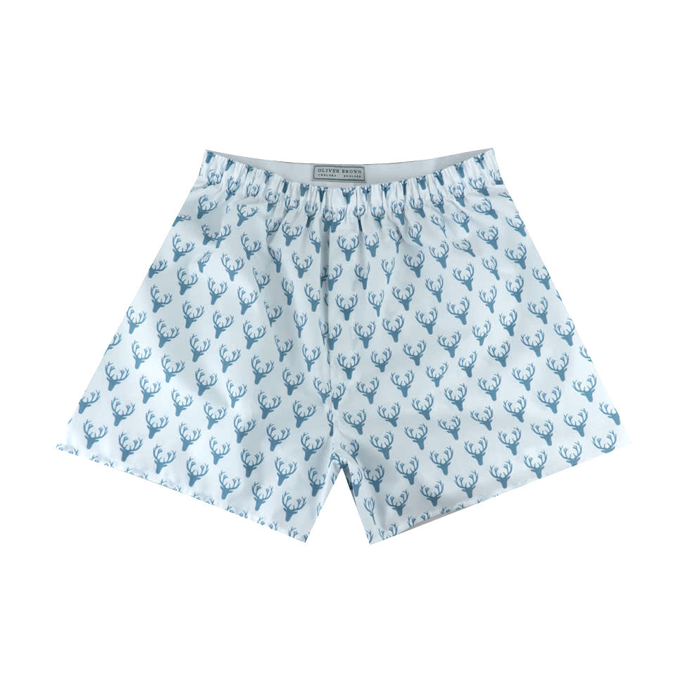 Cotton Boxer Shorts, Stag Silhouette