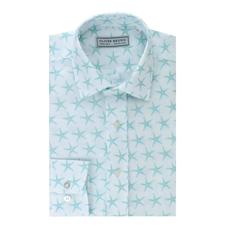 Starfish Linen Shirt - Blue