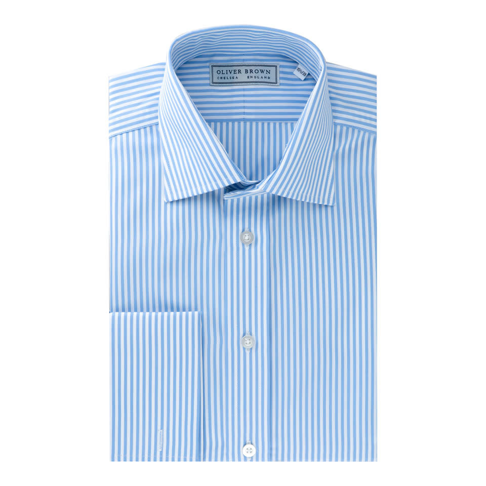 Cotton Stripe Shirt - Sky