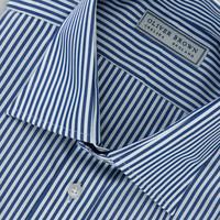 Cotton Stripe Shirt - Navy