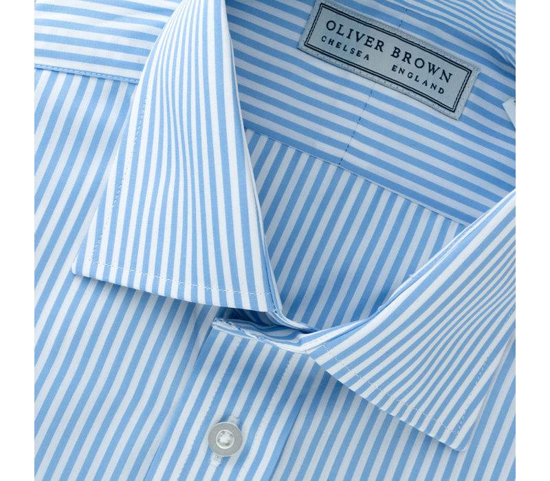 Cotton Stripe Shirt - Sky