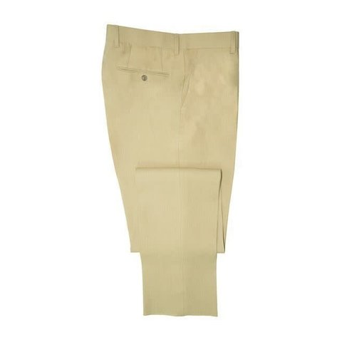 Pleated Trousers - Sand Linen