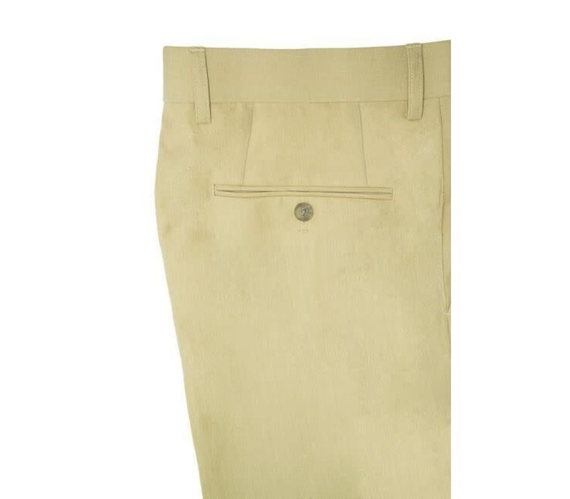 Pleated Trousers Sand Linen
