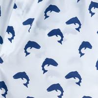 Cotton Boxer Shorts, Fish Silhouette Print