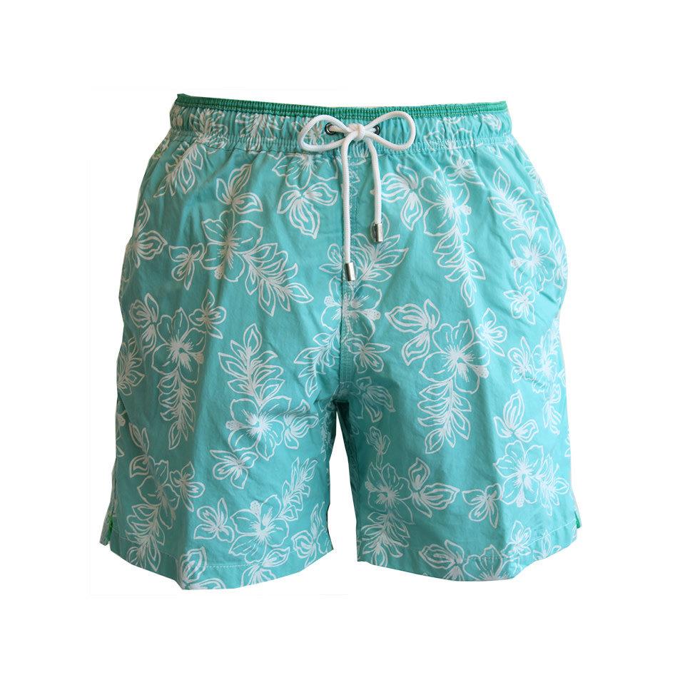 Swim Shorts, Hula Dancing - Green