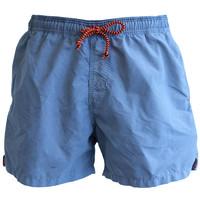 Mens Swimming Shorts, Plain - Pale Blue