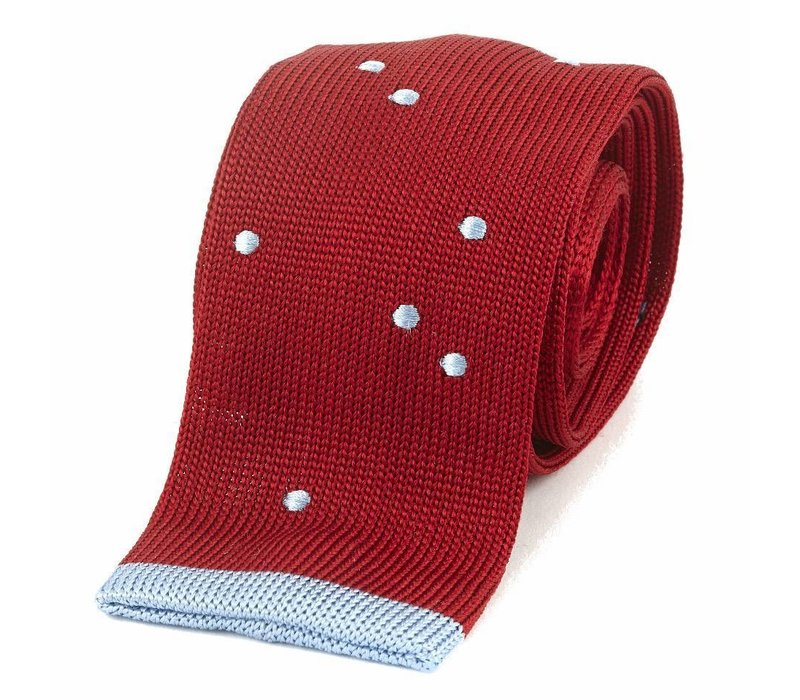 Maverick Silk Knitted Tie - Red