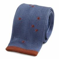 Maverick Silk Knitted Tie - Navy