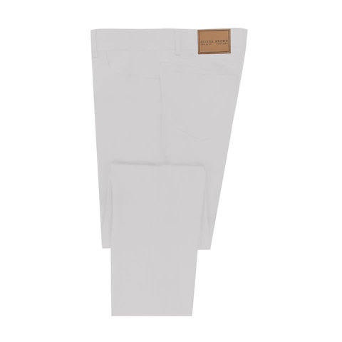 Lightweight Cotton Jeans - White