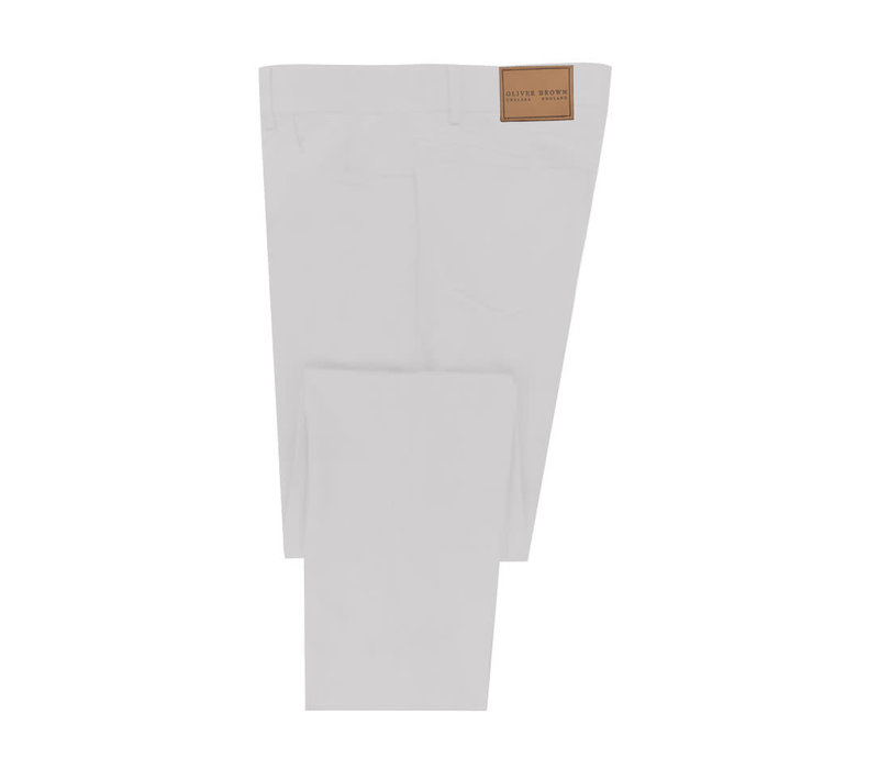Lightweight Cotton Jeans - White