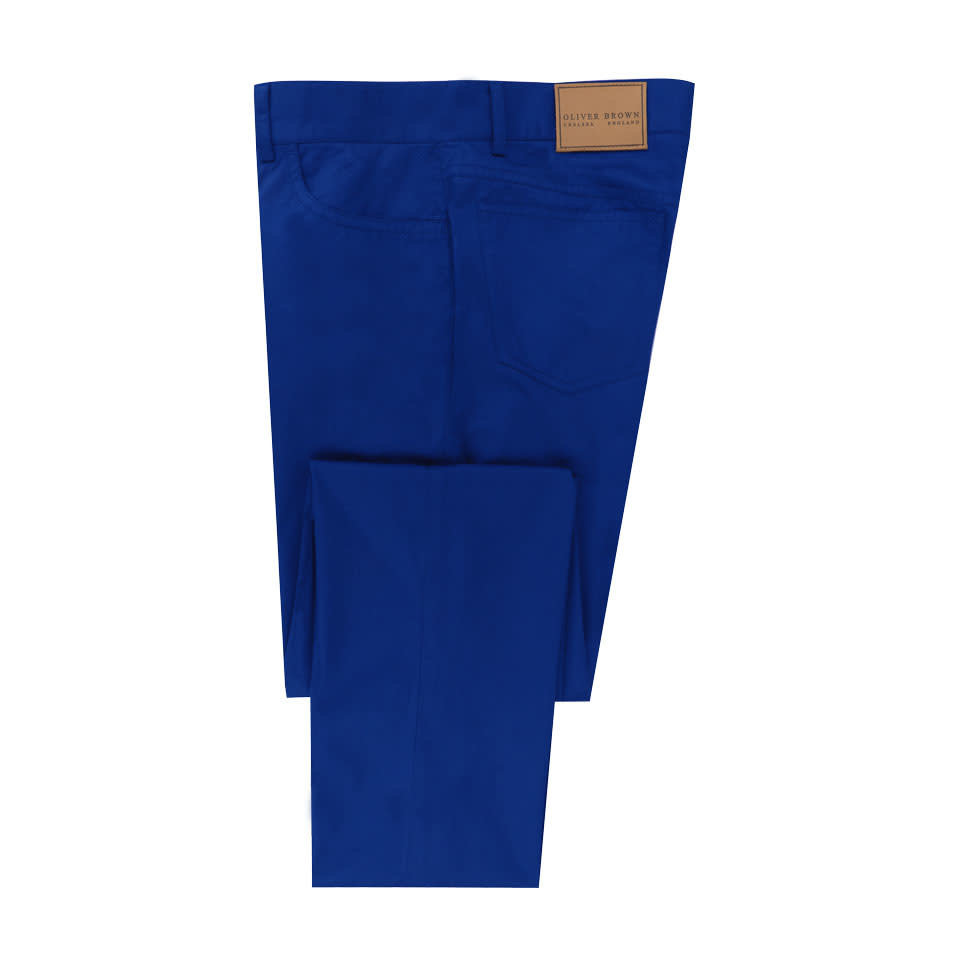 Lightweight Cotton Jeans - Royal Blue