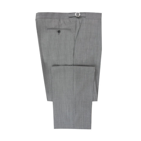 Flat Front Morning Trouser - Lightweight Grey