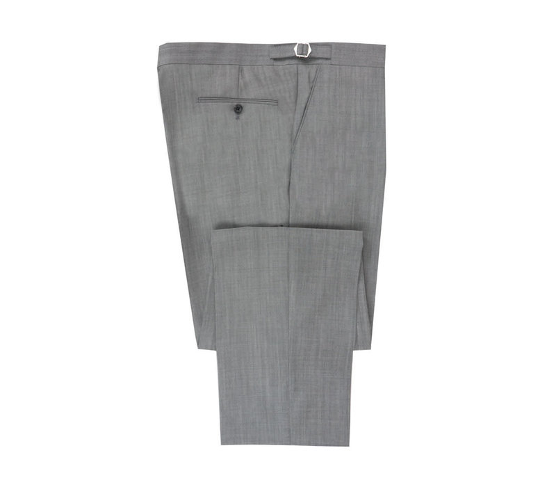 Flat Front Morning Trouser - Lightweight Grey