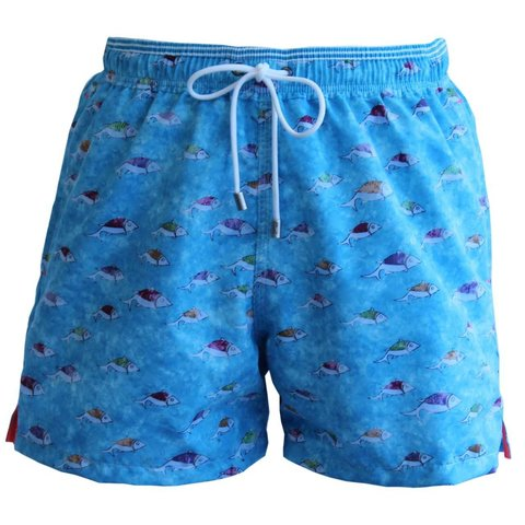 Mens Swimming Shorts, Shoal - Turquoise