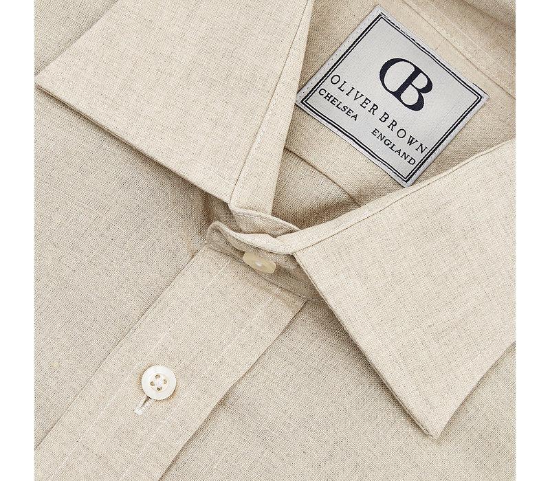 Linen Shooting Shirt - Beige