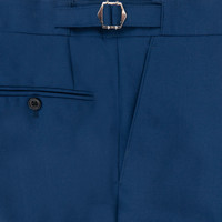 Pleated Suit Trousers -  Royal Blue