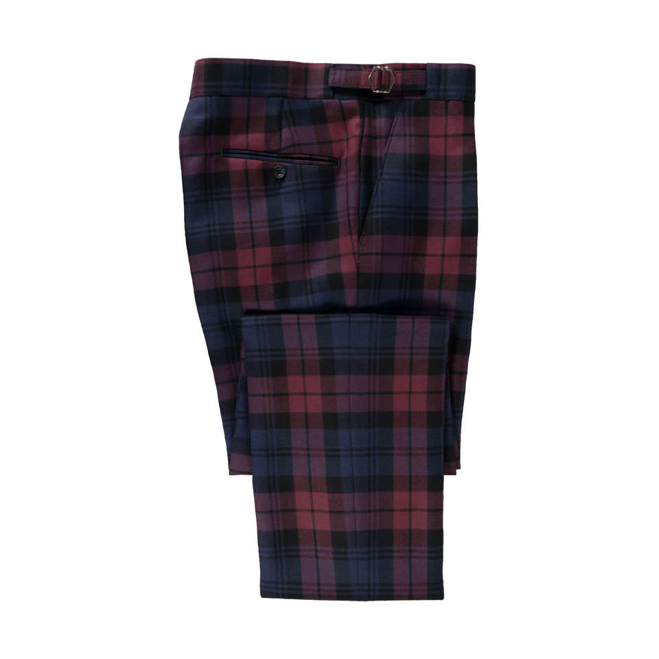 Tartan Trousers - Plum Watch