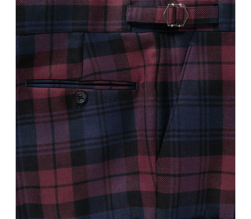 Tartan Trousers - Plum Watch