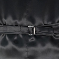 Single Breasted Velvet Evening Waistcoat - Navy
