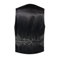 Single Breasted Velvet Evening Waistcoat - Black