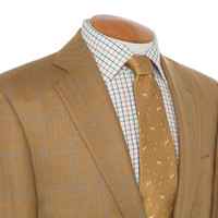 Lightweight Jacket, Checked, made with Loro Piana Cloth