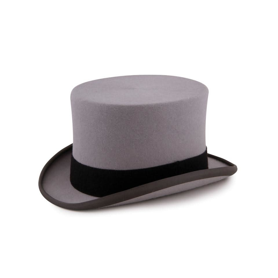 Ex- Rental Wool Felt Top Hat - Grey