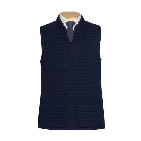Quilted Thermatex Gilet - Navy