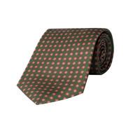 Silk Tie, Neat Flower - Green