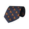 Silk Tie, Flying Grouse - Navy