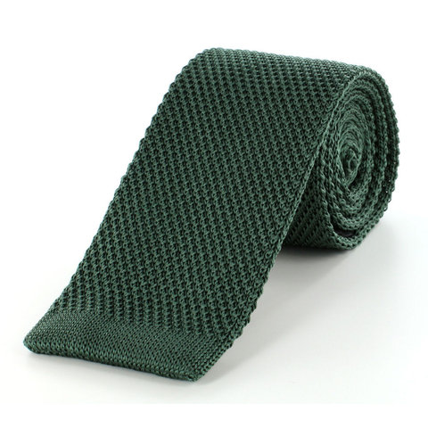 Pure Silk Knitted Tie - Green