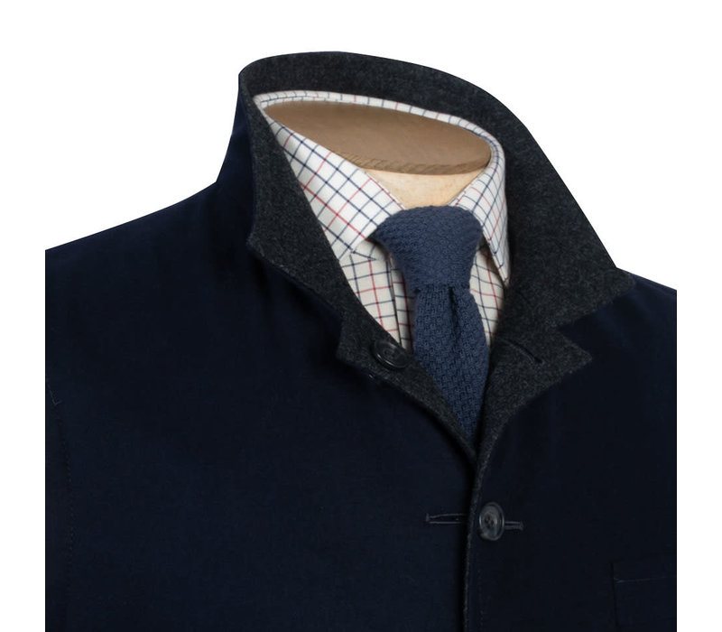 Reversible Gilet - Navy and Grey Loden