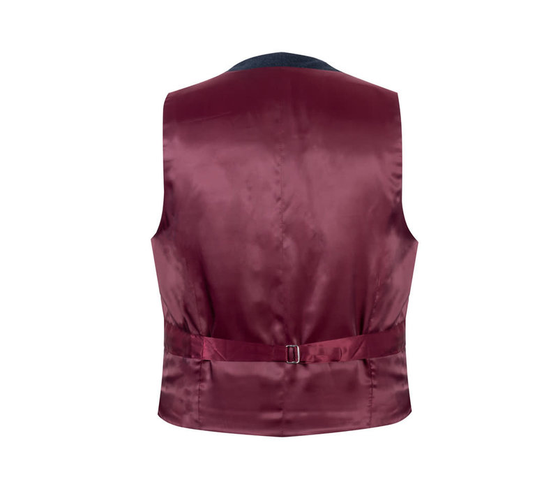 Single Breasted Waistcoat - Navy Cash Blend