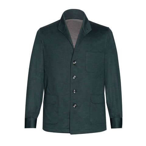 Wool Teba Jacket - Verde