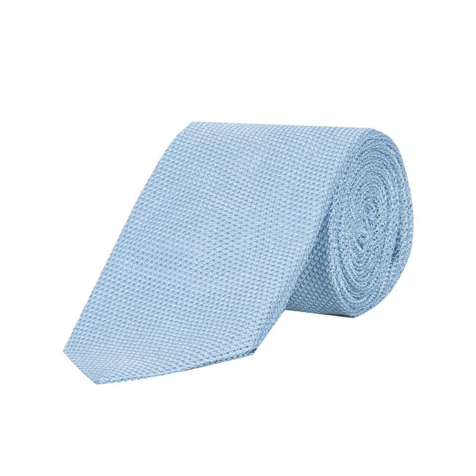 Grenadine Silk Tie - Pale Blue