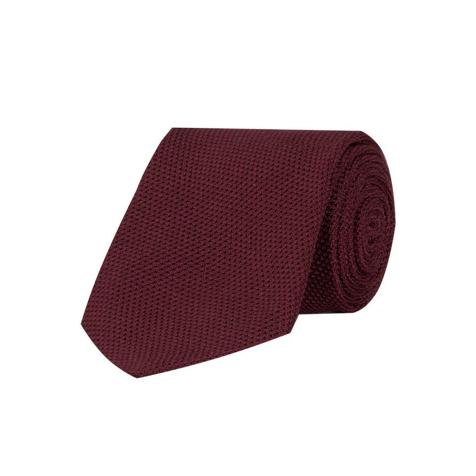Grenadine Silk Tie - Burgundy